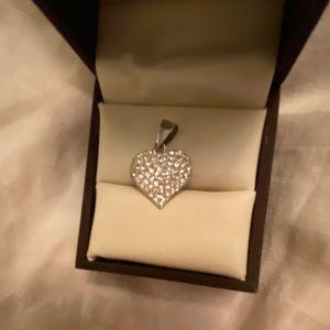 ⚡️Crystal sparkle silver heart pendant